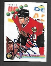 TONY AMONTE Chicago Blackhawks AUTOGRAPH on 1994-95 Score #92