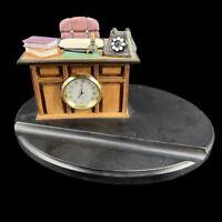 """Vintage Hummel Goebel """"Just Business"""" 2003 Figurine Stand Clock Pen Holder #1081"""