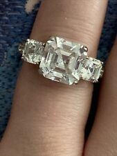 Engagement Ring Sz 6 5.6ct Berricle Asscher Cut