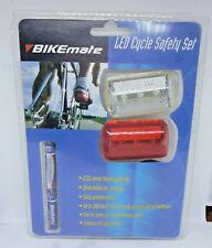 Bikemate LED Cycle Safety Set New Includes Batterys and fixings
