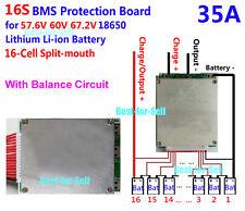 60V 67.2V 16S 35A Lithium ion Li-ion Li-Po LiPo Polymer Battery BMS PCB System