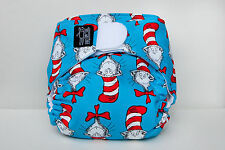 """Limited edition """"Cat in the Hat"""" modern cloth nappy - an eatmyfeet product"""