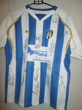 Colchester United 2008-2010 Squad Signed Home Football Shirt COA /6865