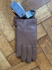 BNWT Marks Spencer Mens Tan Leather Gloves With Thermowarmth lining size Large