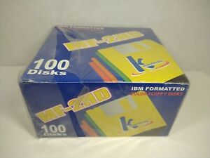 NEW KHypermedia MF-2HD 100 Diskettes Floppy Disks *SEALED* 1.44MB IBM Formatted