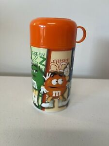 VINTAGE M&M Candy Orange Cap Thermos Insulated 2002
