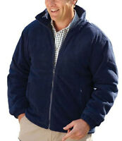 Mens Padded Fleece Jacket Coat Anti Pill Quilted Think Warm Zip Pockets S-3XL