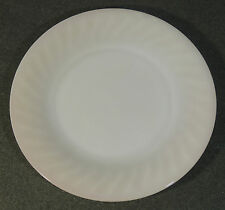 "Fire King Anchor Hocking Oven Ware Pink Swirl 9"" Dinner Plate EUC"