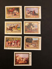 Hungary Scott 2592-8 MNH Imperforate Imperf Imp Paintings of Horses