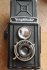 Voigtlander Brilliant Bakelite TLR  Camera UNUSUAL AGC SHUTTER