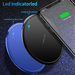 QI Wireless Charger Fast Charging Pad Dock For iPhone Samsung Android Cell Phone