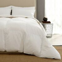 Puredown® White Goose Down and Ultra Feather Winter Comforter, 100% Cotton Shell