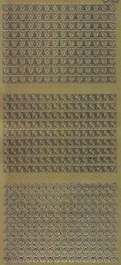Zier-Sticker-Bogen-Buchstaben-3 pro Bogen-z.B.ABC / DEF-gold oder silber-2237/45