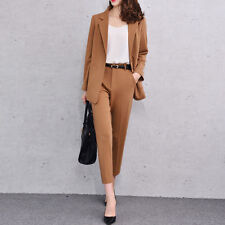 Brown Womens Business Suits Ladies Suits For Work Formal Business Female Suits