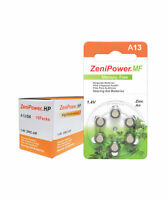 ZENIPOWER HEARING AID BATTERY A13 SIZE 13 PACK OF 10 OF 6 = 60 BATTERIES