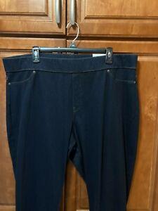 Hue Women's Plus Sized Original Denim Leggings Midnight Rinse - Size 2X