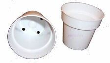 25 - 2 1/4 inch White Plastic Flower Pots Made in the USA