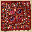 """15"""" x 15"""" Vintage Rabari Throw Embroidery Ethnic Tapestry Tribal Wall Hanging"""