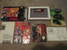 Doom Troopers (Super Nintendo SNES) Complete CIB w/ Poster - Nice!