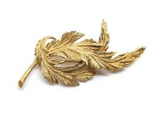 Vintage TIFFANY&CO 18K Yellow Gold Evergreen Tree Fern Leaf Brooch Pin 750 17g