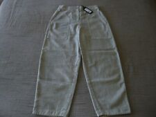 """NWT OSKA """"Bruna"""" Woven Textured/Washed Cotton Trousers - size 2 12/14UK RRP£179"""