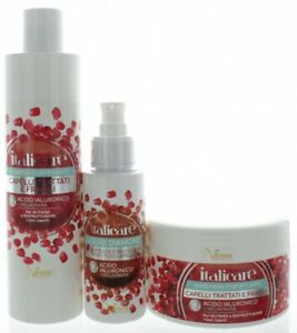 Hyaluronsäure Haarshampoo + Haarmaske + Haaröl mit Granatapfel (2x300ml+100ml)