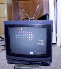"Sony Trinitron Kv-1326R 13"" 13 Crt Color Tv Vintage With Remote and Antenna"