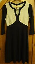 Principles by Ben De Lisi Cream and Black Dress 10