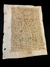 ANTIQUE  PAPER DOCUMENT 1490s