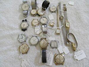 Lot 18 Timex Mens Womens Quartz Analog Timex Vintage Modern Wristwatches
