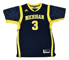 adidas Youth NCAA Michigan Wolverines Basketball Sewn Jersey NWT $70 S, M, L, XL