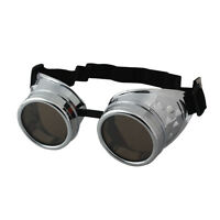Vintage Victorian Steampunk Goggles Glasses Welding Cyber Punk Gothic Cosplay 5H