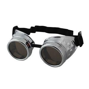 Vintage Victorian Steampunk Goggles Glasses Welding Cyber Punk Gothic Cospl TM