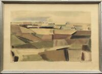 Svend Arne Engelund 1908-2007 Lithografie Landschaft Modern Skandinavien Grafik