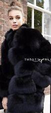 Genuine Black Fox Coat Size M 12/14 Brand New With Label (Twenty Fall )