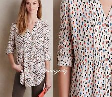 NEW 0 Anthropologie Calia Tunic by Maeve Adorable Versatile Cute Patterns LAST 1