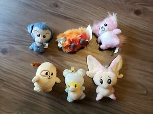 RARE Lot of 6 Neopets Petpet Plushies Fire Noil Pink Feepit Warf Ona Miamouse