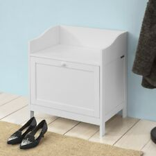 SoBuy® Wood White Hallway Storage Seat Bench with Pull Out Door,FSR51-W,UK