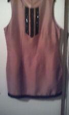 Pure Silk Gold/Black Shift dress size 42 Short!