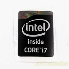 20x  NEW Sticker Badge Label Logo inter inside CORE i7 20.5*15.5mm silver ST072