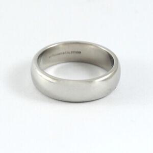 TIFFANY & CO CLASSIC WEDDING BAND RING PLATINUM 6 MM.