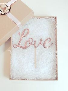 Love Cake Topper - Wooden Cake Topper - Wedding Cake Topper