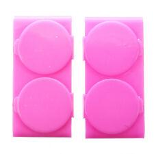 10x(2PC Plastic Nail Art Double Dappen Dish Case Nail Liquid Powder Acrylic J0N2