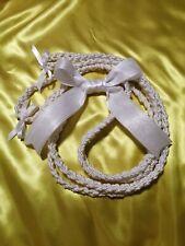 Beautiful Wedding Rope,Cord all White handmade. Lazo de Boda todo Blanco.
