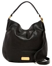 $430 NWT Marc by Marc Jacobs New Q Hillier Leather Hobo Shoulder Bag Black