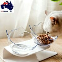 Food Bowl With Stand White Elevated Cat Dog Water Bowl Detachable Pet Feedings