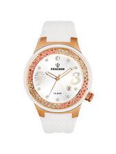 POSEIDON Damen-Armbanduhr Analog Silikonband UP00444 Cremeweiß UVP 159,- €