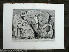 PIRANESI Rom 1756 Le Antichità Romane Painted Wall Fragments Pyramid Cestius