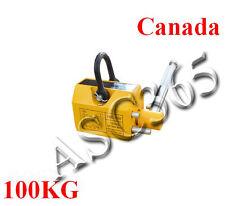 100 KG Steel Magnetic Lifter Heavy Duty Crane Hoist Lifting Magnet 220lb