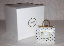 Authentic Caron Limoges box Porcelain shopping Bag Purse Hand Painted $250 value